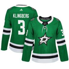 Women's Dallas Stars #3 John Klingberg Green Adizero Player Home Jersey
