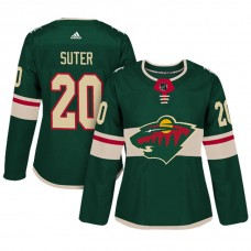 Women's Minnesota Wild #20 Ryan Suter Green Adizero Player Home Jersey