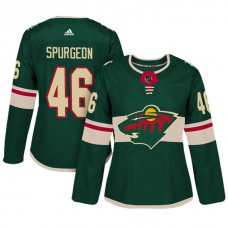 Women's Minnesota Wild #46 Jared Spurgeon Green Adizero Player Home Jersey
