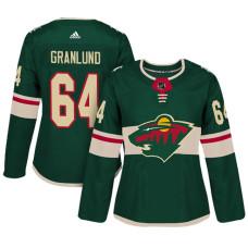 Women's Minnesota Wild #64 Mikael Granlund Green Adizero Player Home Jersey