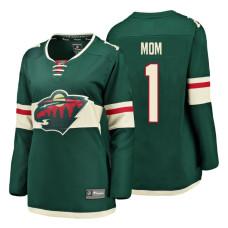 Women's Minnesota Wild Green Mother's Day #1 Mom Jersey