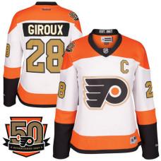 low priced 92840 5f5a2 Women's Philadelphia Flyers #28 Claude Giroux Orange Adizero ...
