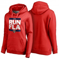 Women's Womens Florida Panthers Red RUN-CTY Pullover Hoodie