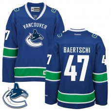 Women's Vancouver Canucks Sven Baertschi #47 Royal Blue Home Premier Jersey
