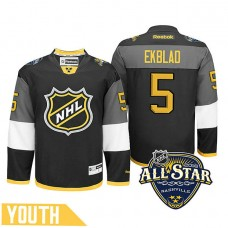 Youth Florida Panthers Aaron Ekblad #5 Black 2016 All-Star Premier Jersey