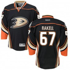 Youth Anaheim Ducks Rickard Rakell #67 Black Premier Home Jersey