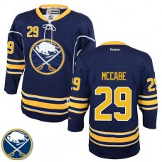 Youth Buffalo Sabres Jake McCabe #29 Navy Blue Home Premier Jersey