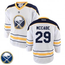 Youth Buffalo Sabres Jake McCabe #29 White Away Jersey