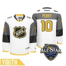 Youth Anaheim Ducks Corey Perry #10 White 2016 All-Star Premier Jersey