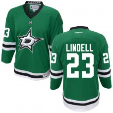 Youth Dallas Stars Esa Lindell #23 Green Premier Home Jersey