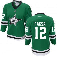 Youth Dallas Stars Radek Faksa #12 Green Premier Home Jersey