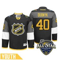 Youth Minnesota Wild Devan Dubnyk #40 Black 2016 All-Star Premier Jersey