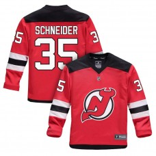Youth New Jersey Devils #35 Cory Schneider Red 2018 New Season Home Jersey
