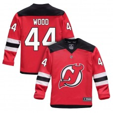 Youth New Jersey Devils #44 Miles Wood Red 2018 New Season Home Jersey