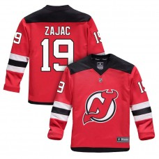 Youth New Jersey Devils #19 Travis Zajac Red 2018 New Season Home Jersey