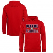 Youth Florida Panthers Red Defend City Hometown Pullover Hoodie