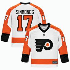 Youth Philadelphia Flyers  17 Wayne Simmonds White 2018 New Season Team  Road Jersey e5104ae70