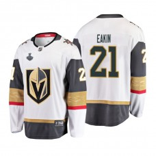 Youth Vegas Golden Knights #21 Cody Eakin 2018 Stanley Cup Final Breakaway Road White Jersey
