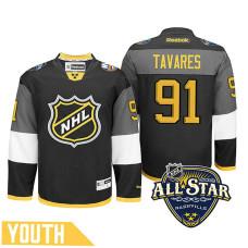 Youth New York Islanders John Tavares #91 Black 2016 All-Star Premier Jersey