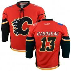 Youth Flames #13 Johnny Gaudreau Red Premier Home Jersey