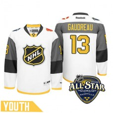 Youth Calgary Flames Johnny Gaudreau #13 White 2016 All-Star Premier Jersey