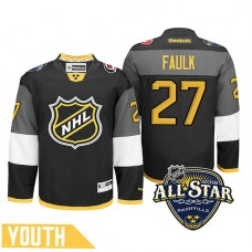 Youth Carolina Hurricanes Justin Faulk #27 Black 2016 All-Star Premier Jersey