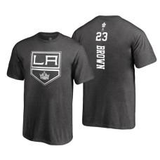 Los Angeles Kings #23 Dustin Brown Heathered Gray 2018 Fanatics Branded Backer T-shirt