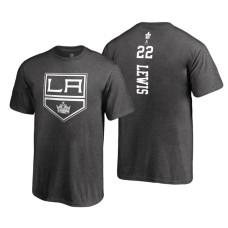 Los Angeles Kings #22 Trevor Lewis Heathered Gray 2018 Fanatics Branded Backer T-shirt