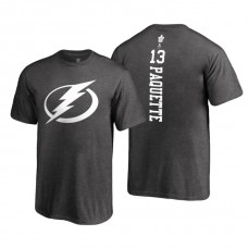 Tampa Bay Lightning #13 Cedric Paquette Heathered Gray 2018 Fanatics Branded Backer T-Shirt