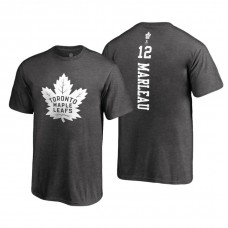 Toronto Maple Leafs #12 Patrick Marleau Heathered Gray 2018 Fanatics Branded Backer T-shirt