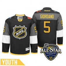 Youth Calgary Flames Mark Giordano #5 Black 2016 All-Star Premier Jersey