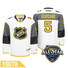 Youth Calgary Flames Mark Giordano #5 White 2016 All-Star Premier Jersey