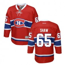 Youth Montreal Canadiens Andrew Shaw #65 Red Home Premier Jersey