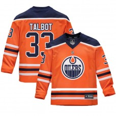 Youth Edmonton Oilers #33 Cam Talbot Orange 2018 New Season Home Jersey