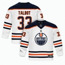 Youth Edmonton Oilers #33 Cam Talbot White 2018 New Season Team Road Jersey
