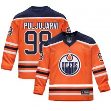 Youth Edmonton Oilers #98 Jesse Puljujarvi Orange 2018 New Season Home Jersey