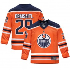 Youth Edmonton Oilers #29 Leon Draisaitl Orange 2018 New Season Home Jersey