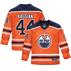 Youth Edmonton Oilers #44 Zack Kassian Orange 2018 New Season Home Jersey
