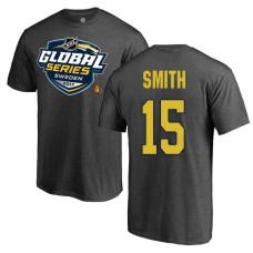 Youth Ottawa Senators Gray Zack Smith #15 2017 Global Series T-shirt