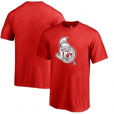 Youth Ottawa Senators Red Crew Neck Mother's Day Gift Canada Wave T-shirt