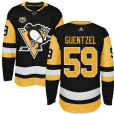 Youth Pittsburgh Penguins #59 Jake Guentzel Black Adidas Home Premier Jersey