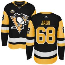 Youth Pittsburgh Penguins #68 Jaromir Jagr Black Adidas Home Premier Jersey