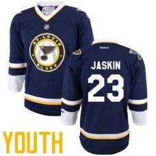 Youth St. Louis Blues #23 Dmitrij Jaskin Navy Blue Premier Alternate Player Jersey