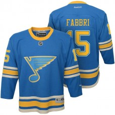 Youth St. Louis Blues #15 Robby Fabbri Blue Premier Jersey