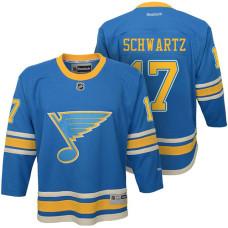 Youth St. Louis Blues #17 Jaden Schwartz Blue Premier Jersey