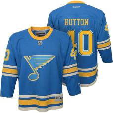 Youth St. Louis Blues #40 Carter Hutton Blue Premier Jersey