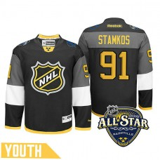 Youth Tampa Bay Lightning Steven Stamkos #91 Black 2016 All-Star Premier Jersey