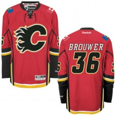 Youth Troy Brouwer #36 Calgary Flames Red Premier Home Jersey
