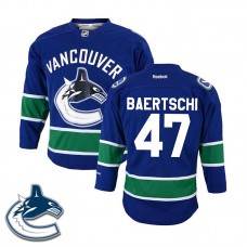 Youth Vancouver Canucks Sven Baertschi #47 Royal Blue Home Jersey