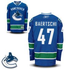 Youth Vancouver Canucks Sven Baertschi #47 Royal Blue Home Premier Jersey